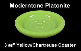 "Moderntone Platonite Pastel Yellow 3 5/8"" Coaster"