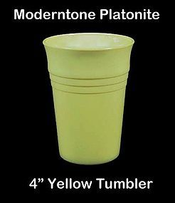 Moderntone Platonite Pastel Yellow 4 inch Water Tumbler