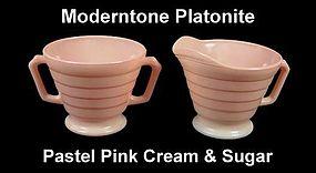 Moderntone Platonite Pastel Pink Creamer N Sugar