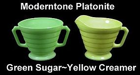 Moderntone Platonite Pastel Green N Yellow CreamNSugar