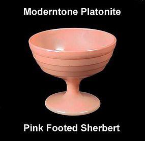 Moderntone Platonite Pastel Pink Footed Sherbert