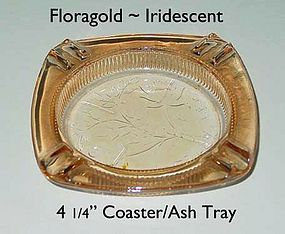 Floragold ~ Iridescent 41/4 inch Coaster Ash Tray