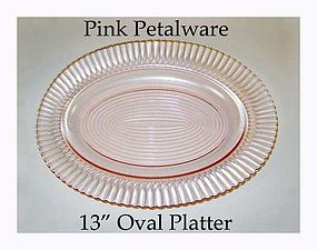 Petalware Pink 13 inch Oval Platter - MacBeth Evans