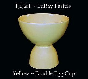 Taylor, Smith & Taylor ~ LuRay Yellow Double Egg Cup