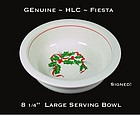 HLC Genuine Fiesta Christmas Holly 8 inch Serving Bowl