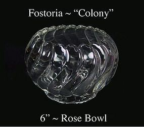 Fostoria Glass Co. ~ Colony ~ 6 inch Rose Bowl~1950s