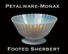 MacBeth-Evans Petalware Monax Footed Sherbert