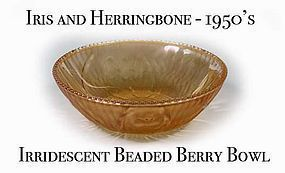 Iris & Herringbone Irridescent Beaded Berry Bowl