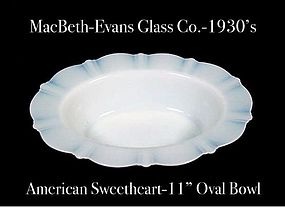 American Sweetheart Monax 11 inch Rimmed Oval Bowl