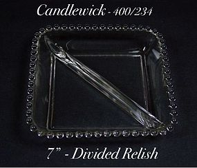 Imperial Candlewick - 400/234 Seven Inch Square Relish