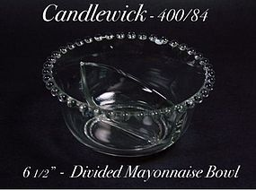 Imperial Candlewick - 400/84 Six Inch Divided Mayo Bowl
