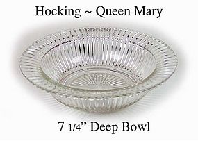 Hocking ~ Queen Mary ~ Vertical Lines ~Deep Rimmed Bowl