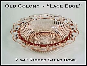 "Old Colony ~ Lace Edge 7 3/4"" Ribbed Salad Bowl"
