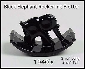 Black Elephant 1940's Rocker Blotter For Ink Pen