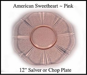 American Sweetheart Pink 12 inch Salver/Chop Plate