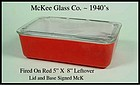 McKee Glass Co~1940's Fired On Refrigerator Leftover