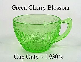Jeannette Glass ~ Cherry Blossom Green ~ Cup only