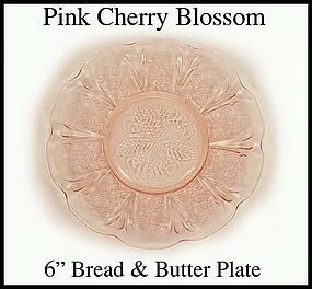 "Jeanette ~ Cherry Blossom Pink 6"" Bread & Butter Plate"