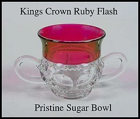 Tiffin U.S. Glass Indiana King's Crown Ftd Sugar Bowl