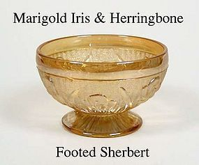 Iris and Herringbone Marigold Footed Sherbert