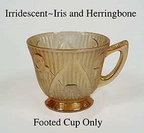 Iris and Herringbone Marigold Footed Cup Only