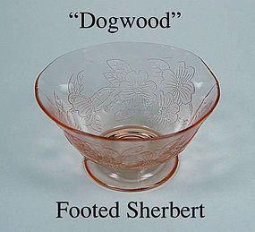MacBeth-Evans ~ Dogwood Pink ~ Footed Sherbert