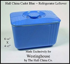 Hall China Westinghouse Blue Refrigerator Left Over