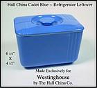 Hall China Westinghouse Blue Refrigerator Left Over