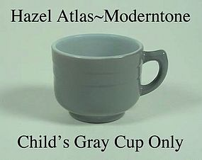 Hazel Atlas Fired On Moderntone Gray Cup Only