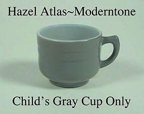 Hazel Atlas Fired On Moderntone Gray Cup Only