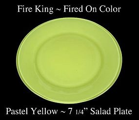 Fire King Fired On Color ~ Pastel Yellow Salad Plate