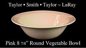 LuRay Pastels 1940's TS&T Lg Pink Vegetable Bowl