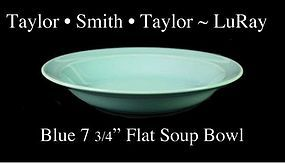 Taylor Smith Taylor LuRay Blue 8 inch Flat Soup Bowl