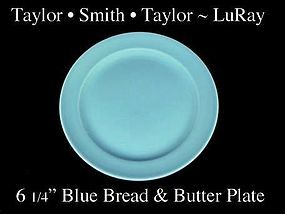 Taylor Smith Taylor LuRay Blue 6 inch Bread Plate