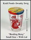"""3"""" Swanky Swig 1953 Red Bustling Betsy w/Kraft Lid"""