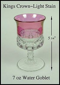 Tiffin ~ Indiana King's Crown Light Stain Water Goblet
