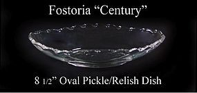 "Fostoria Glass Co. ~ 1950's ~ ""Century"" Pickle Dish"