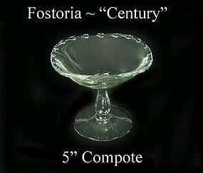 "Fostoria Glass Co. ~ 1950's ~ ""Century"" Nut Compote"