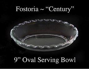 "Fostoria Glass Co. ~ 1950's ~ ""Century"" 9' Oval Bowl"