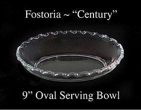 "Fostoria Glass Co. ~ 1950's ~ ""Century"" 9' Oval Bowl"