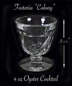 """Fostoria """"Colony"""" 4 oz Footed Oyster Cocktail Stem"""