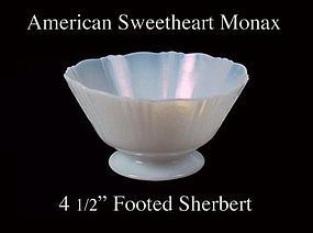 MacBeth-Evans American Sweetheart Monax Footed Sherbert