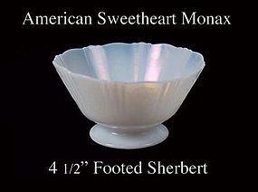 MacBeth-Evans American Sweetheart Monax Footed Sherbert