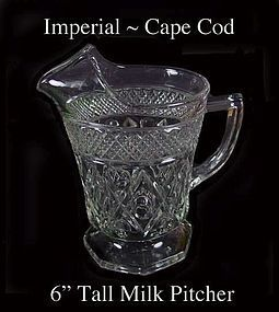 Imperial Glass ~ Cape Cod 16oz 1 Pint Milk Pitcher