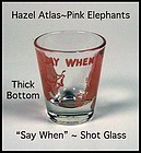 "Hazel Atlas Pink Elephant ""Thick Bottom"" Shot Glass 2oz"