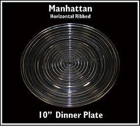 Hocking Glass ~ Manhattan 10 inch Dinner Plate