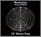 Hocking Glass ~ Manhattan 10 inch Dinner Plate