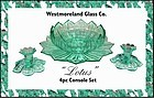 Westmoreland  Lotus  Rare Color 4pc Console Set