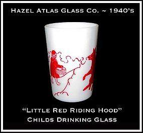 Hazel Atlas Childs Red Little Red Riding Hood~Tumbler