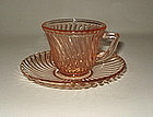Vintage Pink Diana Demi Childs Cup and Saucer